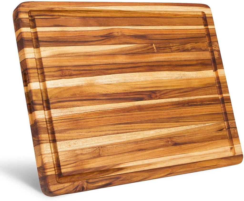 reversible teak cutting board