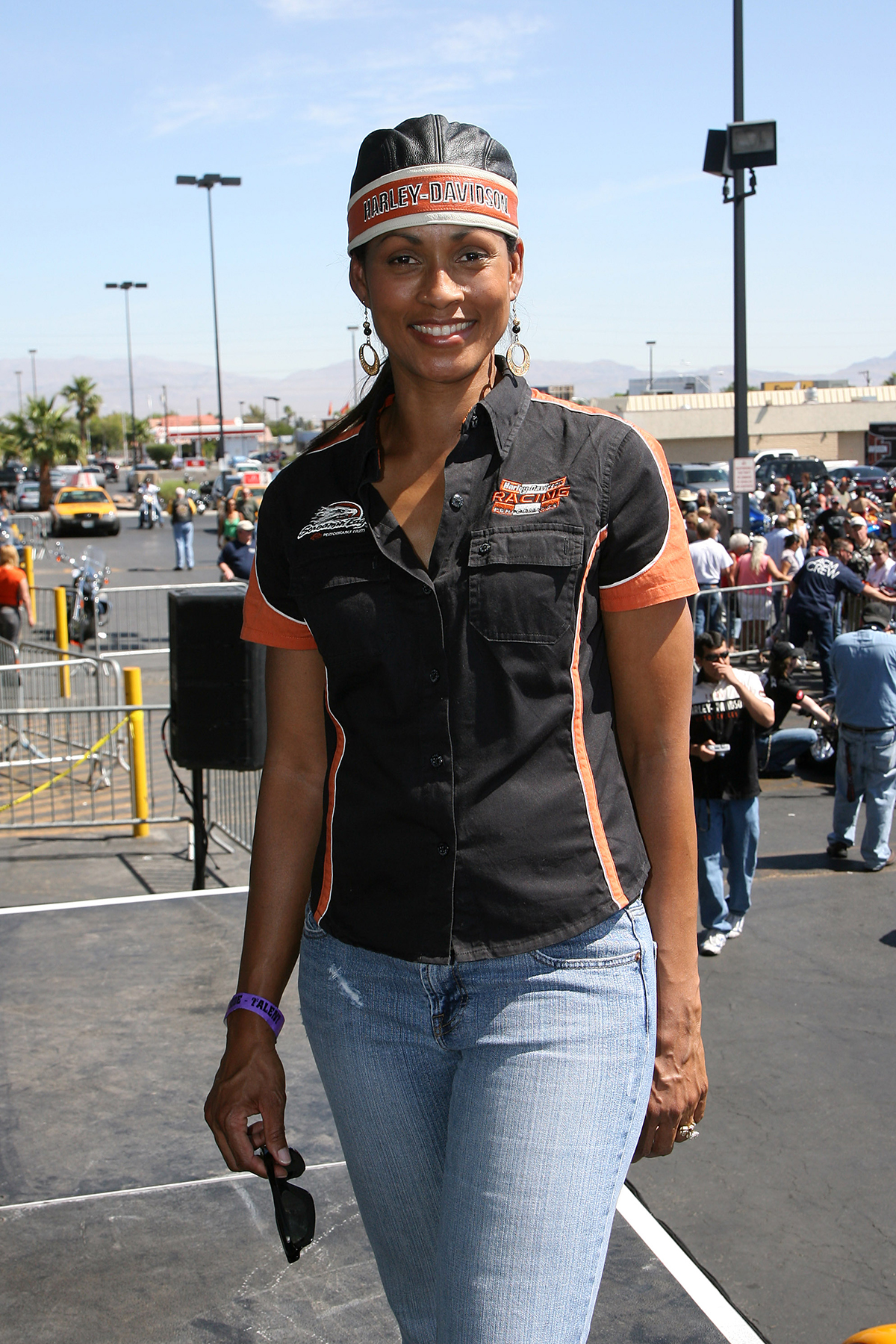 LAS VEGAS - MAY 17: Rhonda Towns prior to the 5th Annual Academy of Country Music Motorcycle Ride benefiting the Academy of Country Music Charitable Fund held at the Las Vegas Harley-Davidson on May 17, 2008 in Las Vegas, Nevada. (Photo by Ethan Miller/Getty Images)