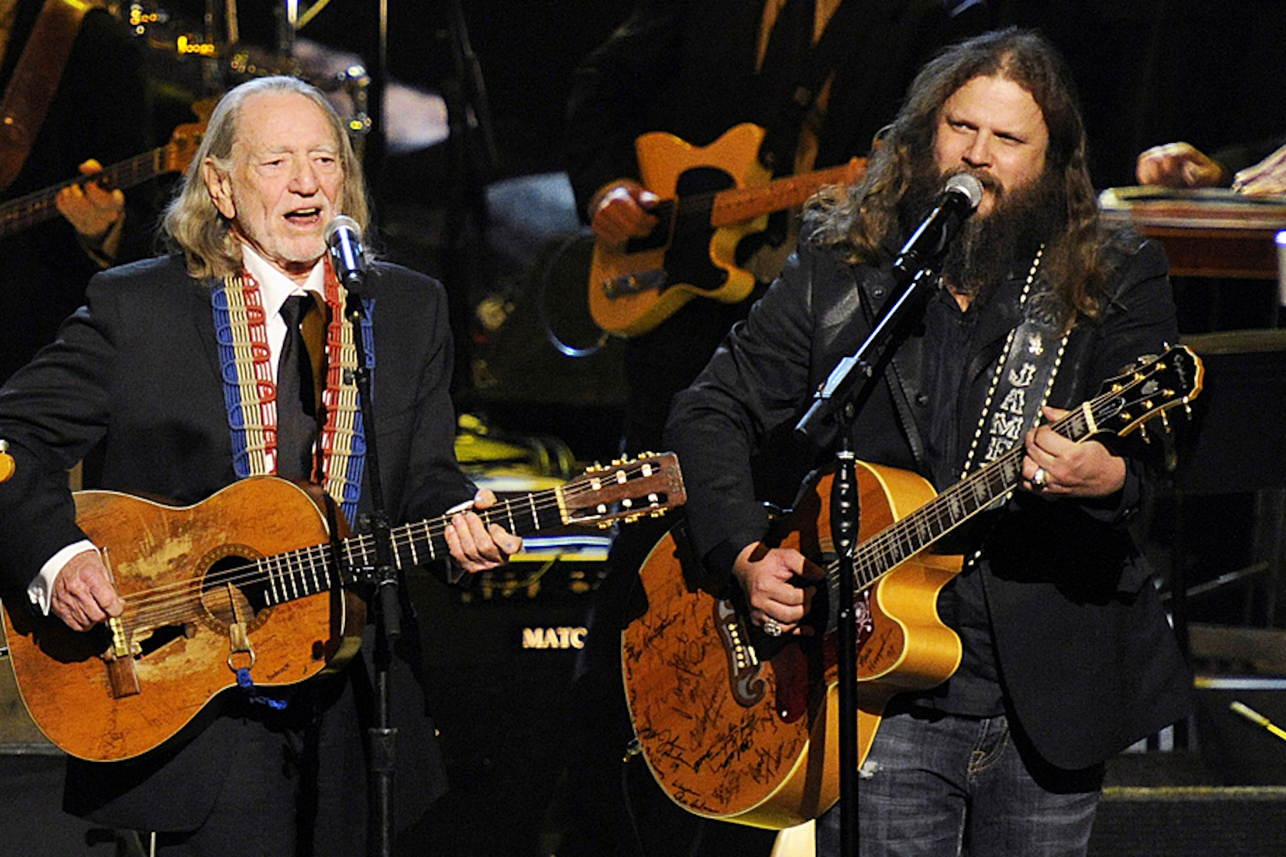 """Willie Nelson and Jamey Johnson teamed up for Nelson's 420 salute """"Roll Me Up and Smoke Me."""""""