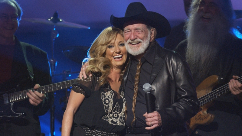 405643 35: Lee Ann Womack, left, and Willie Nelson perform onstage during the 37th Annual Academy of Country Music Awards May 22, 2002 at the Universal Amphitheatre in Los Angeles, CA. (Photo by Vince Bucci/Getty Images)