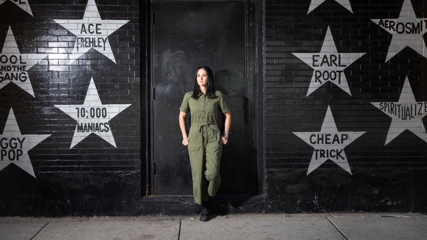 30245386A (05/03/20) - CUL - A portrait of Dayna Frank, president and CEO of First Avenue, in front of the famed music venue in Minneapolis, Minn., on Sunday, May 3, 2020. (Jenn Ackerman for The New York Times) @ackermangruber