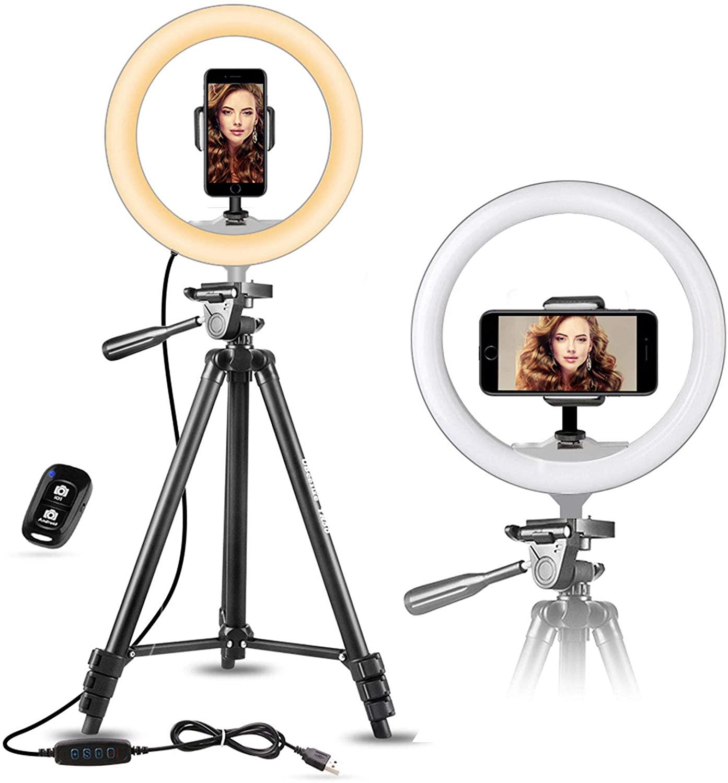 ring light vlogging