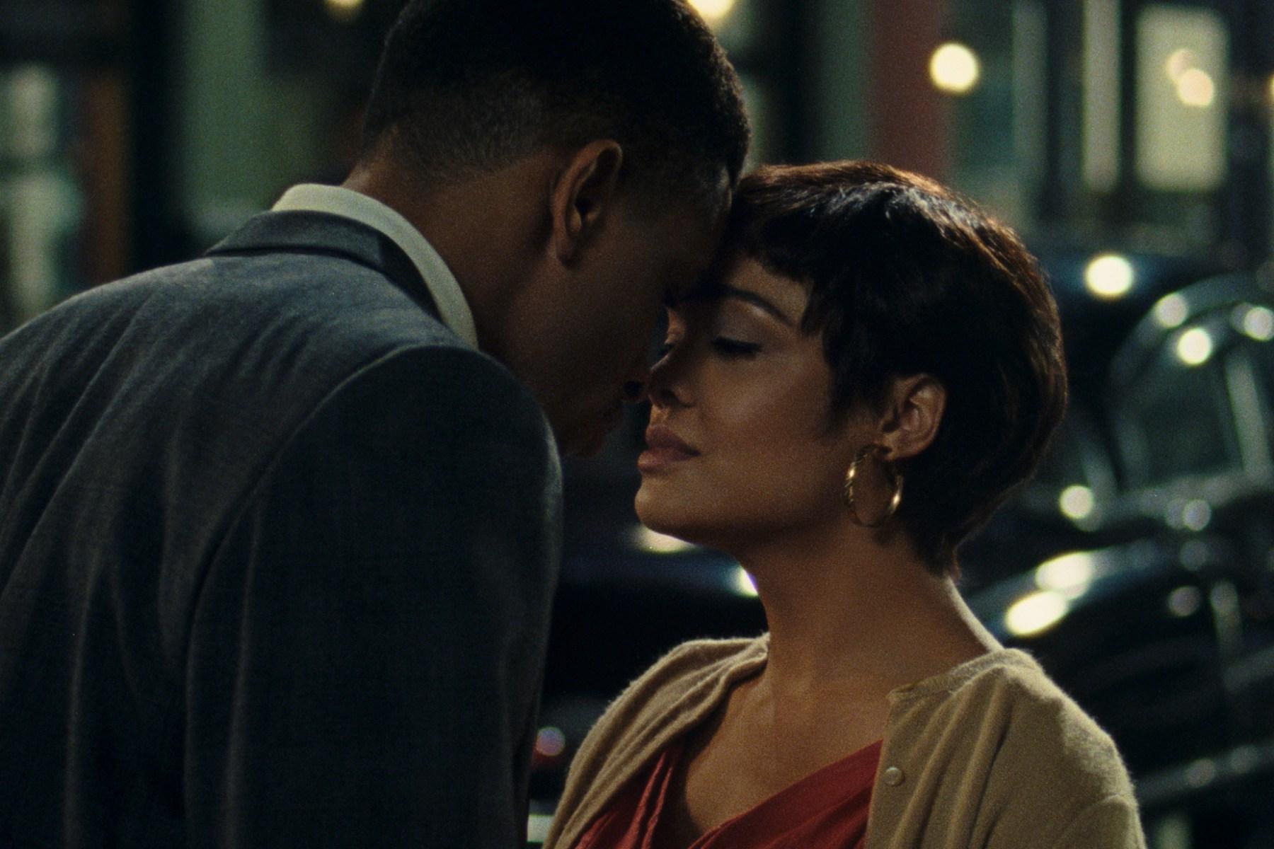 Nnmadi Asomugha and Tessa Thompson in 'Sylvie's Love.'