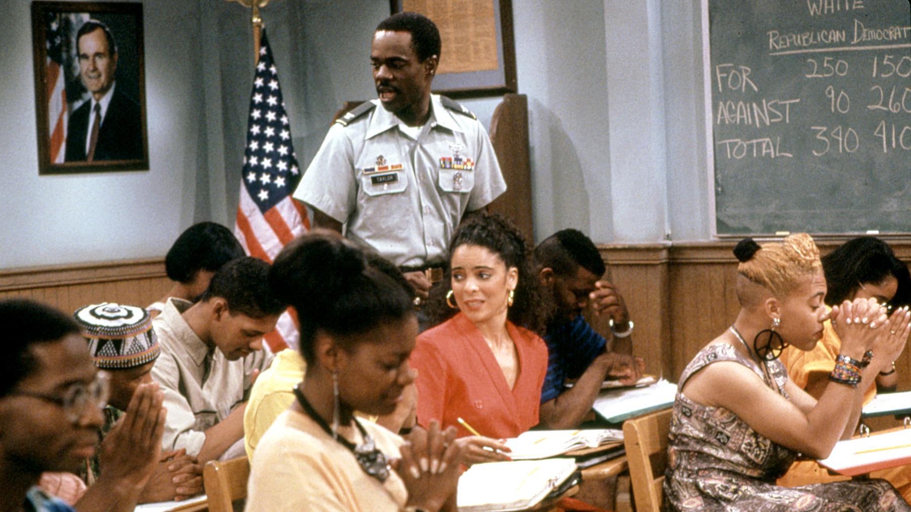 A DIFFERENT WORLD, Glynn Turman, Jasmine Guy, season 4, 1987 - 1993