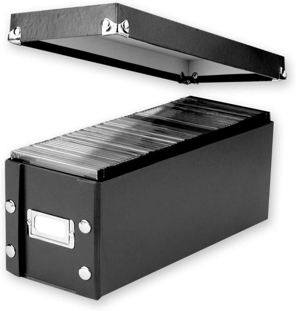 cd storage boxes