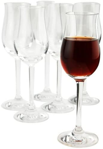 professional crystal port wine glass