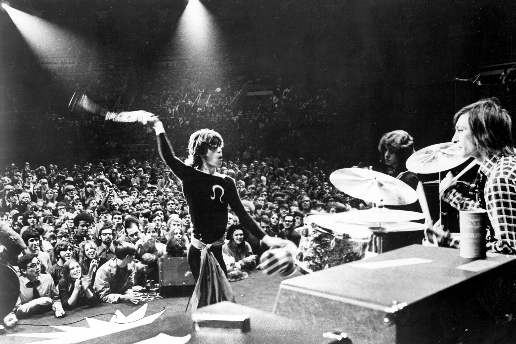 """NEW YORK - NOVEMBER 28: Rock and roll band """"The Rolling Stones"""" perform onstage at Madison Square Garden in a concert that was recorded and later released as the live album """"Get Yer Ya-Ya's Out"""" and also as part of the film """"Gimme Shelter"""" on November 28, 1969 in New York City, New York. (Photo by Michael Ochs Archives/Getty Images)"""