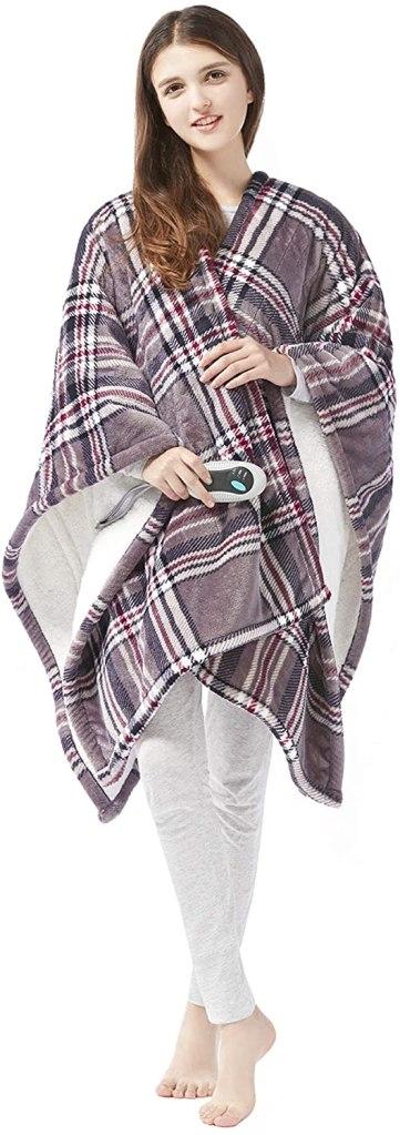 sherpa electric blanket wrap