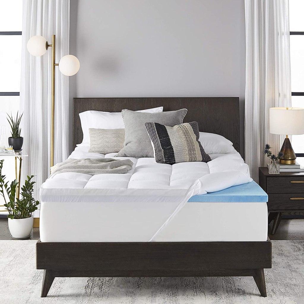 4 inch dual layer mattress topper