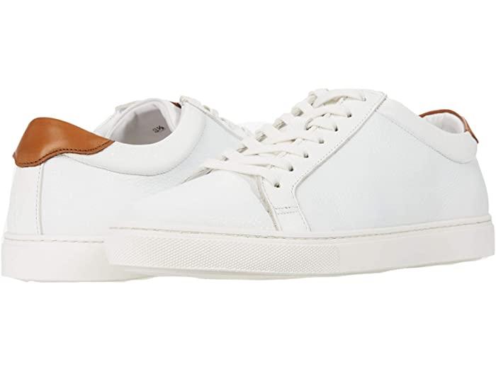 white leather sneakers allen edmonds