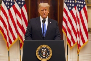 Trump Takes Nation on One Last Excruciating, Delusional Tour of His Presidency