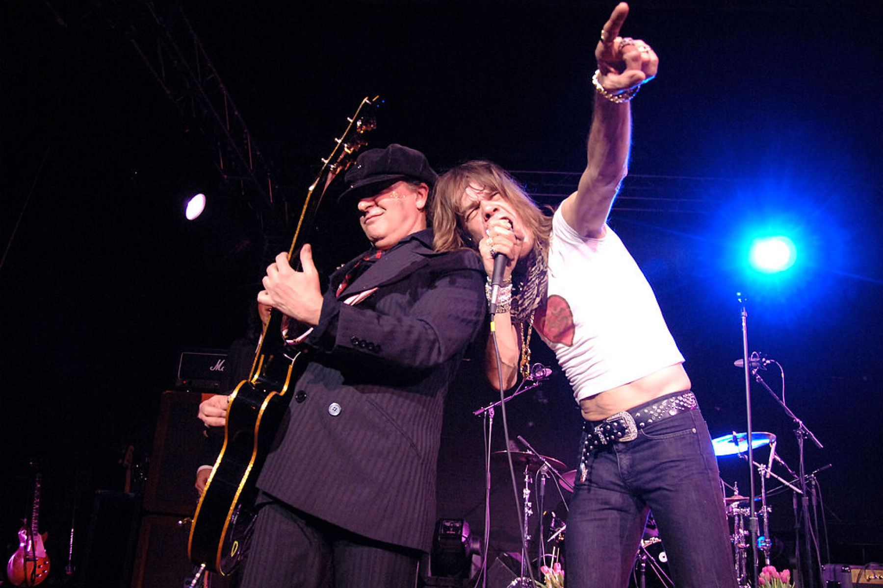 Sylvain Sylvain and David Johansen of the New York Dolls (Photo by Dimitrios Kambouris/WireImage)