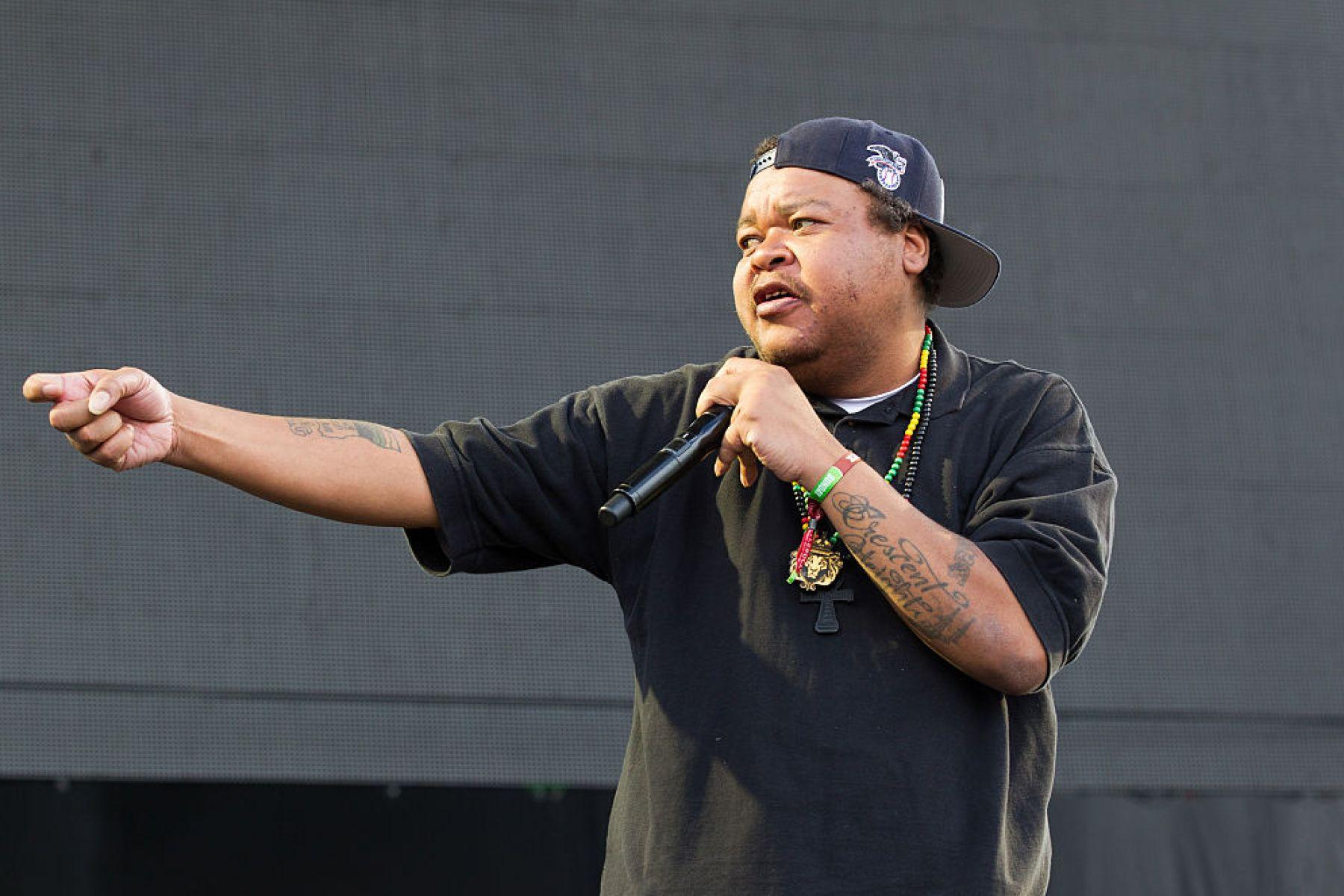 NAPA, CA - MAY 31:  Rapper Michael Turner aka Double K of People Under the Stairs performs at Bottle Rock festival at Napa Valley Expo on May 31, 2015 in Napa, California.  (Photo by Miikka Skaffari/FilmMagic)