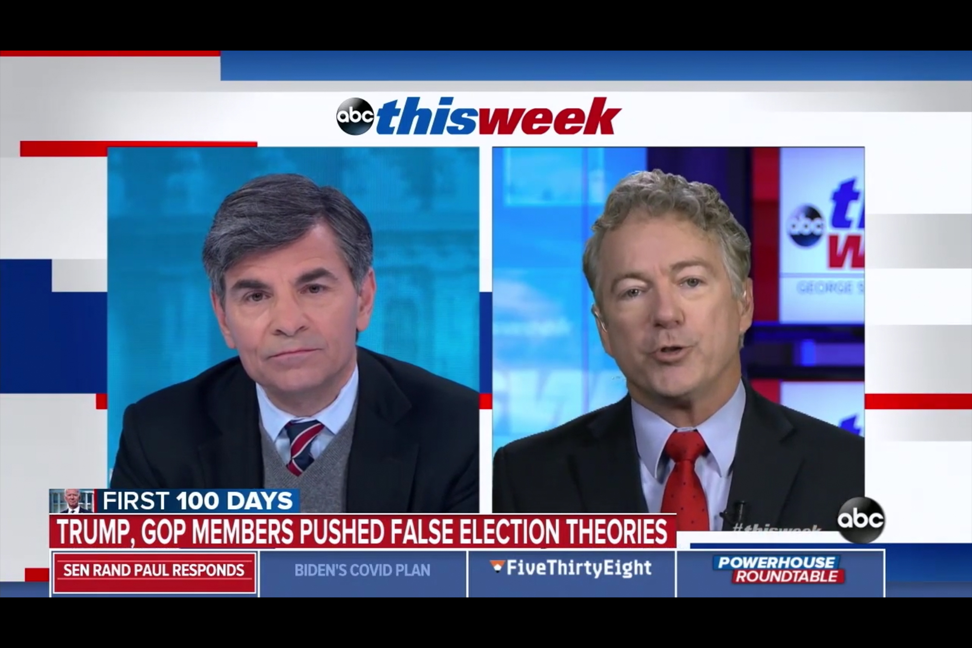 <p>Rand Paul Refuses to Say Election Wasn't Stolen:'I Won't Be Cowed by Liberals' thumbnail