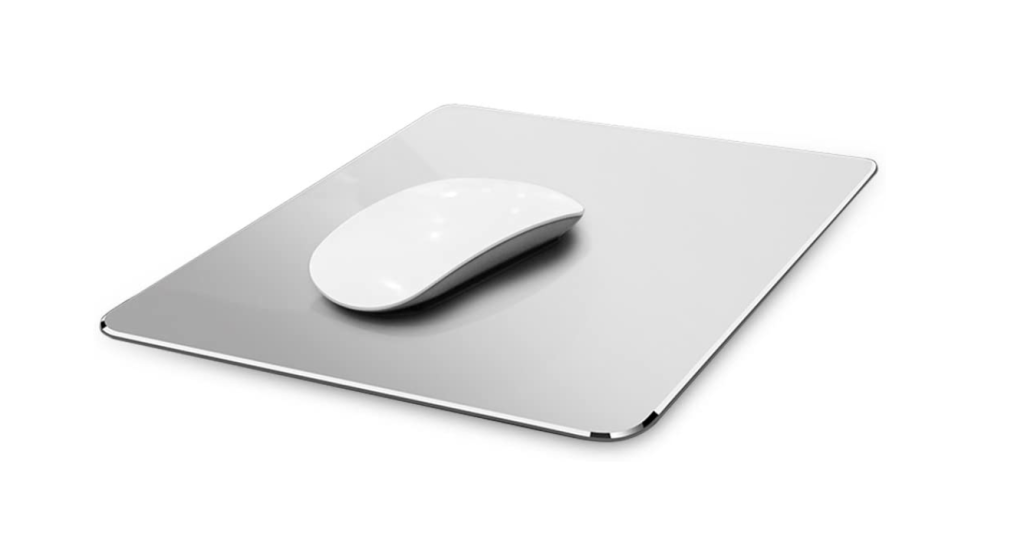 Hard Silver Metal Aluminum Mouse Pad