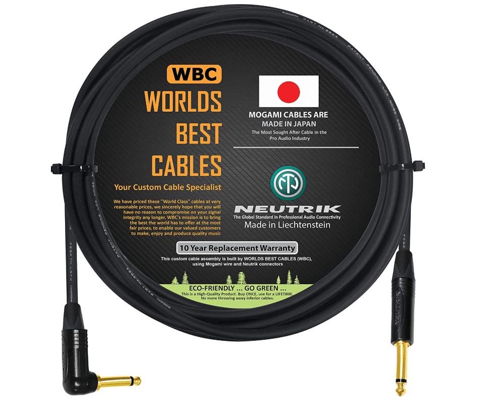WBC Mogami 10 Foot - Guitar Bass Instrument Cable