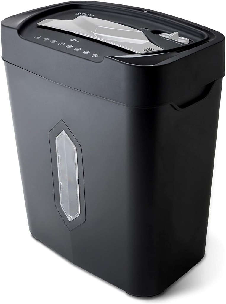 aurora anti jam 12 sheet shredder