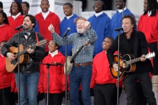 Flashback: Bruce Springsteen and Pete Seeger Sing 'This Land Is Your Land' for Obama