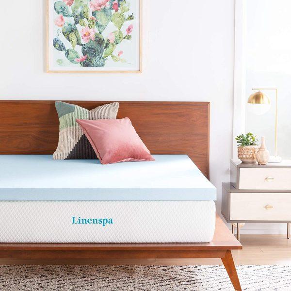 linenspa 3 inch foam mattress topper