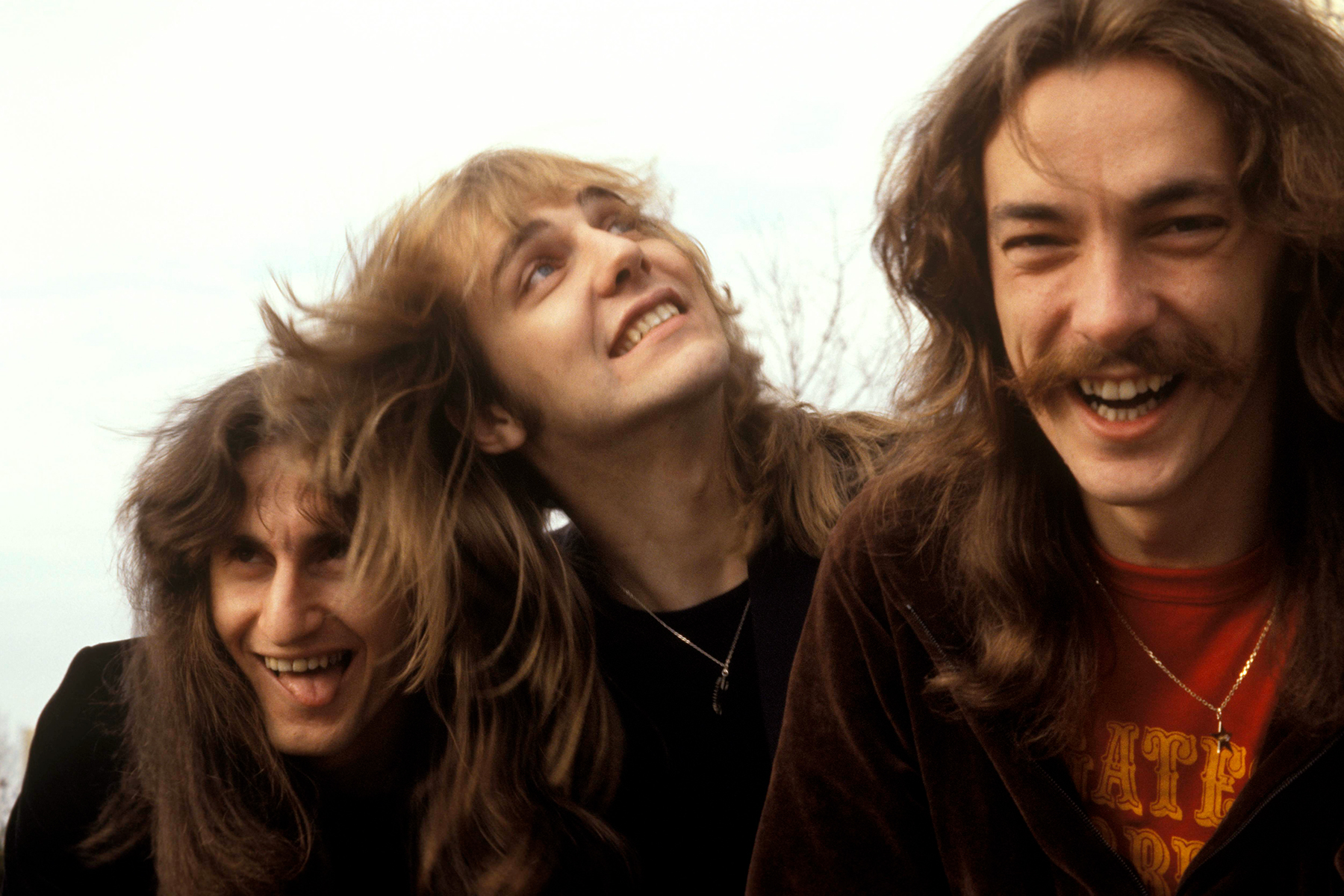 UNITED STATES - DECEMBER 01: Photo of Alex LIFESON and RUSH and Geddy LEE and Neil PEART; Geddy Lee, Alex Lifeson, Neil Peart - posed, group shot, (Photo by Fin Costello/Redferns)
