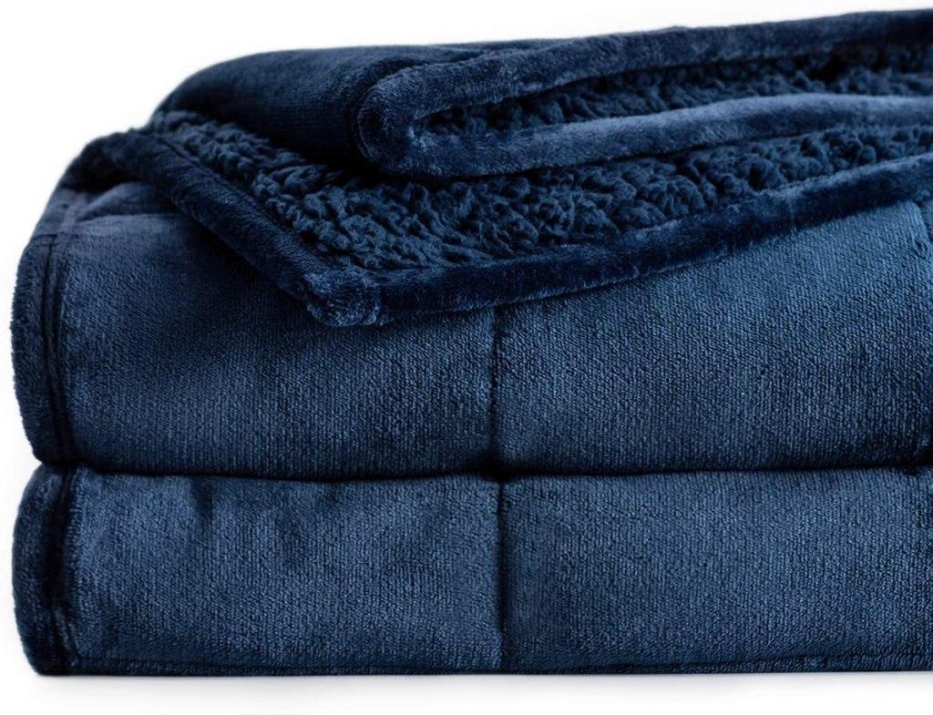 sherpa fleece weighted blanket