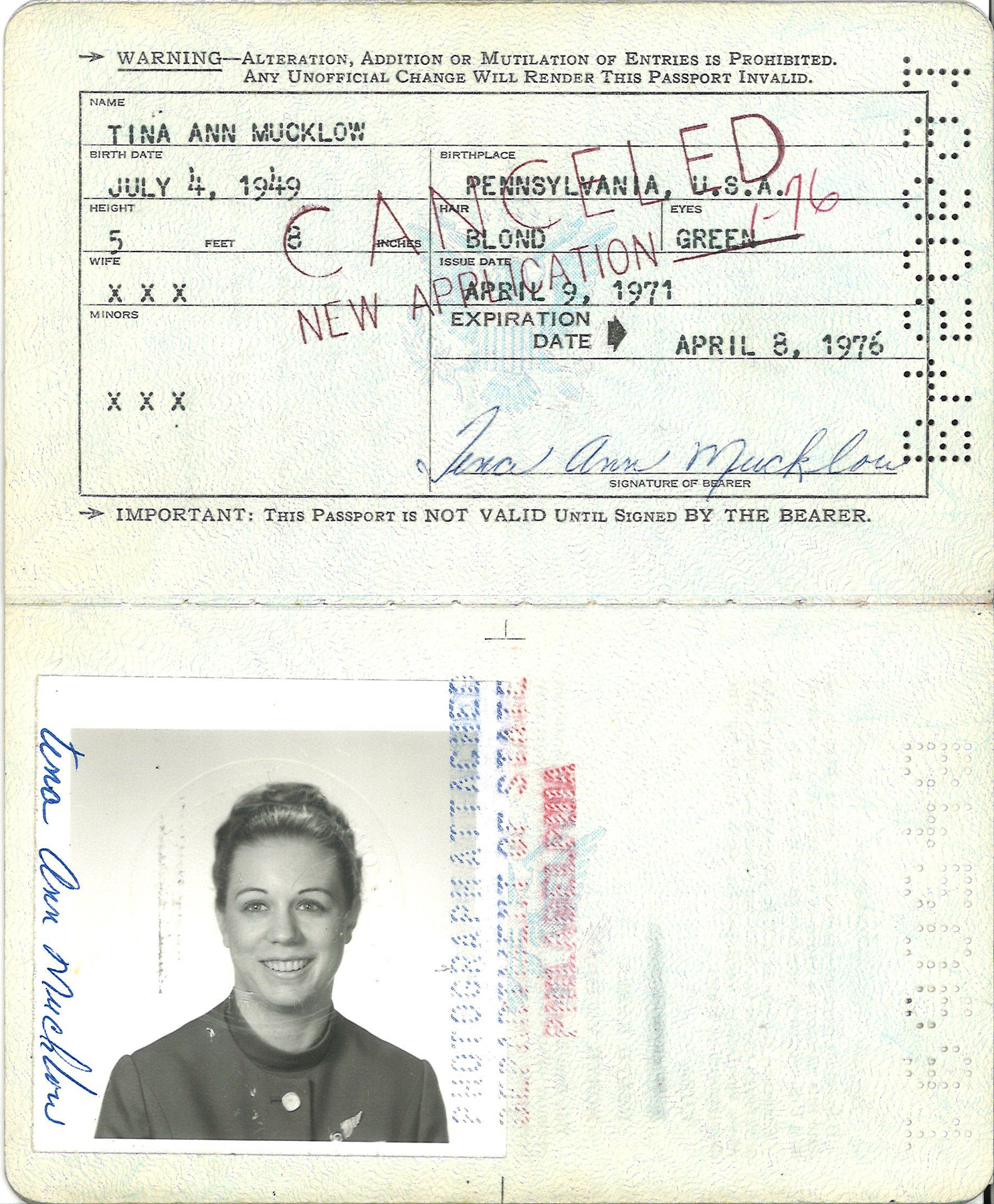 tina mucklow db cooper passport