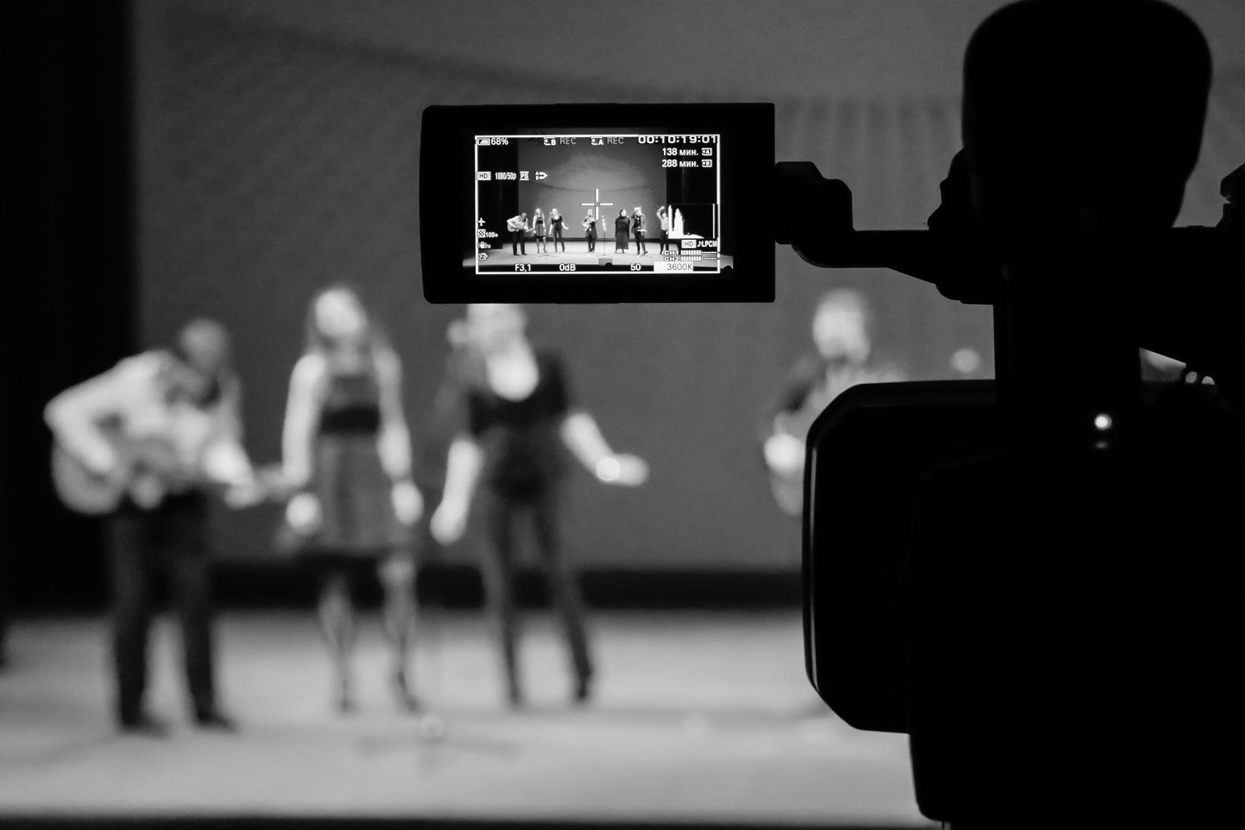Filmed stage performance