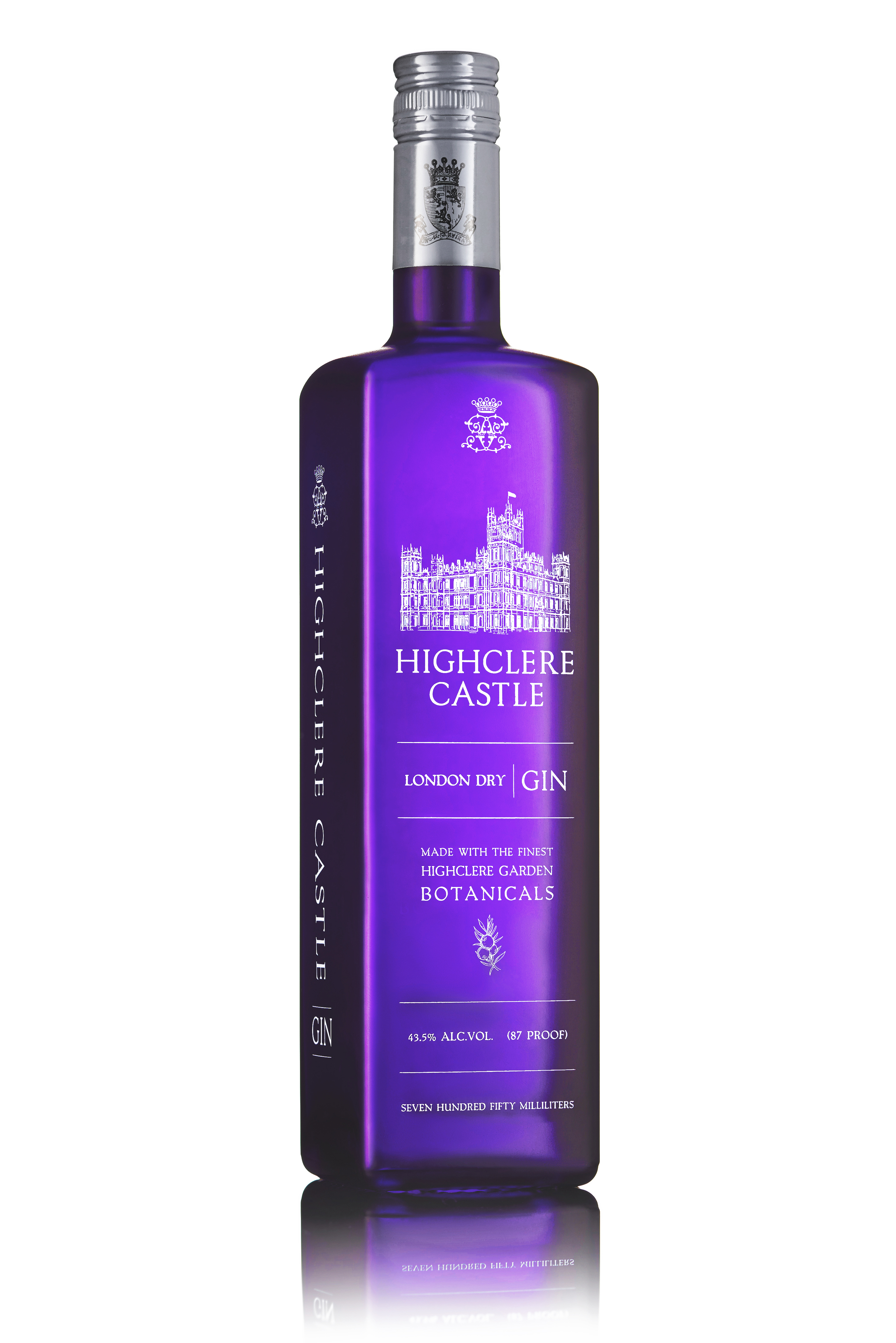 highclere castle gin purple bottle