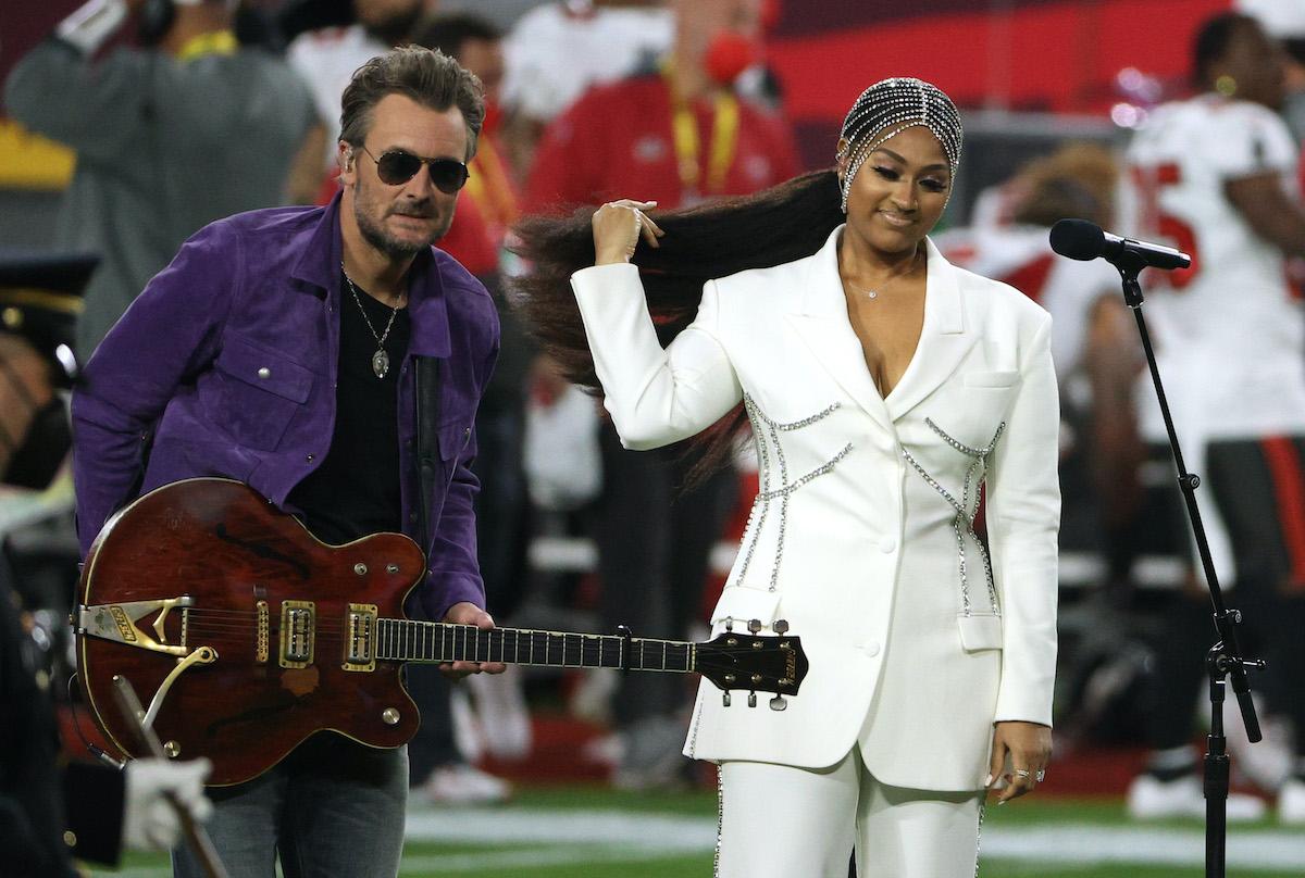 Watch Eric Church, Jazmine Sullivan Perform 'Star-Spangled Banner' at Super Bowl LV - Rolling Stone