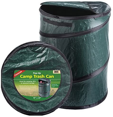 camp pop up trash can
