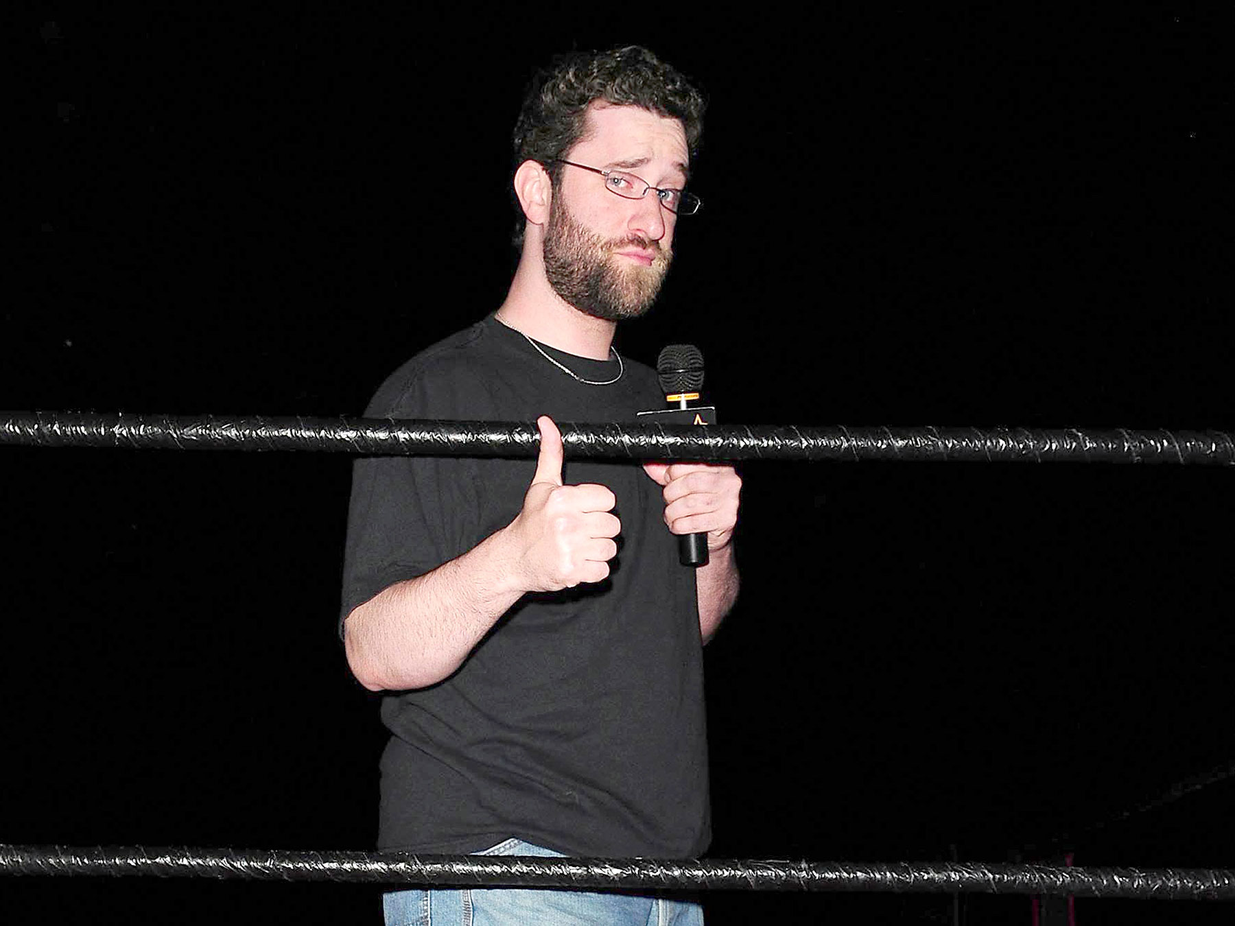 """**FILE PHOTO** Dustin Diamond Has Passed Away at 44 From Stage 4 Lung Cancer. FORT LAUDERDALE, FL - JUNE 04 : Dustin """"Screech"""" Diamond attend Celebrity Boxing Match Featuring Michael Lohan and Frank Sorrentino at The Ocean Manor on June 4, 2011 in Fort Lauderdale, Florida. (photo by: MPI10/MediaPunch Inc.) /IPX"""