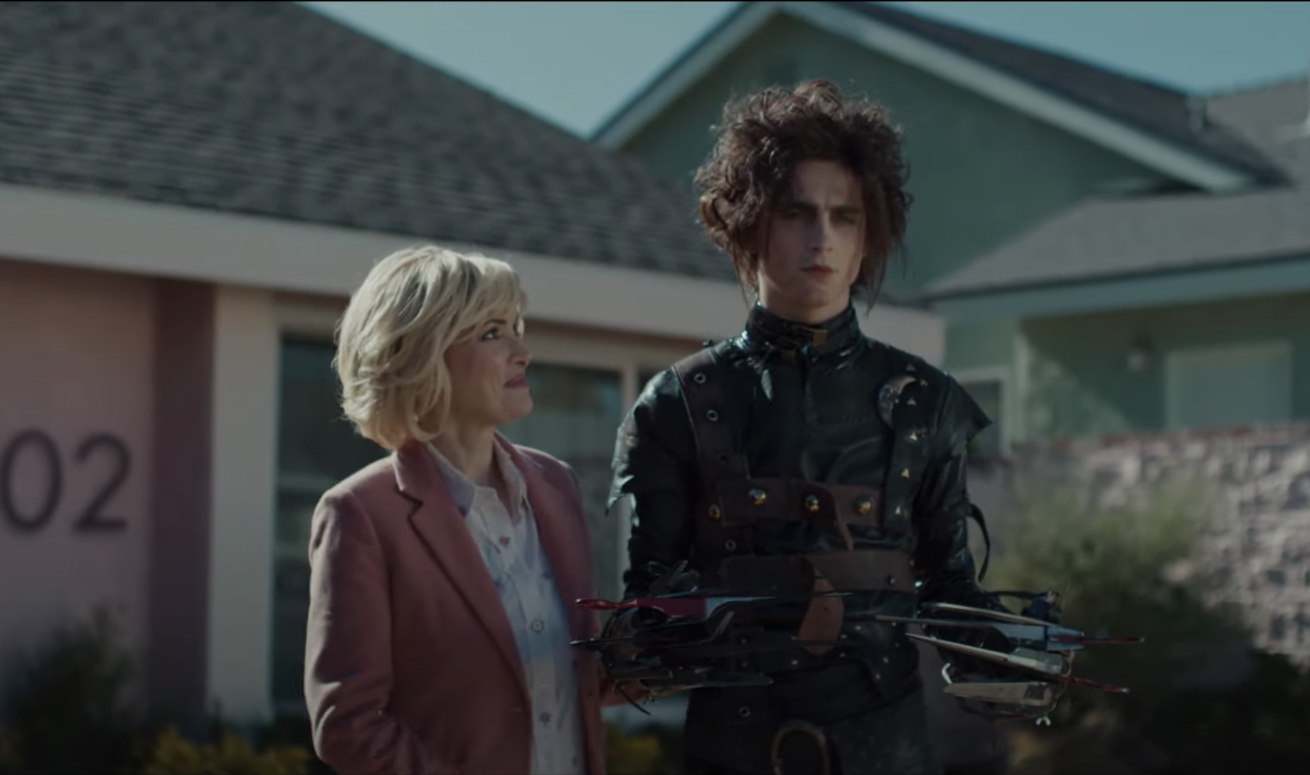 See Timothée Chalamet Play Edward Scissorhands' Son in Cadillac Super Bowl Ad