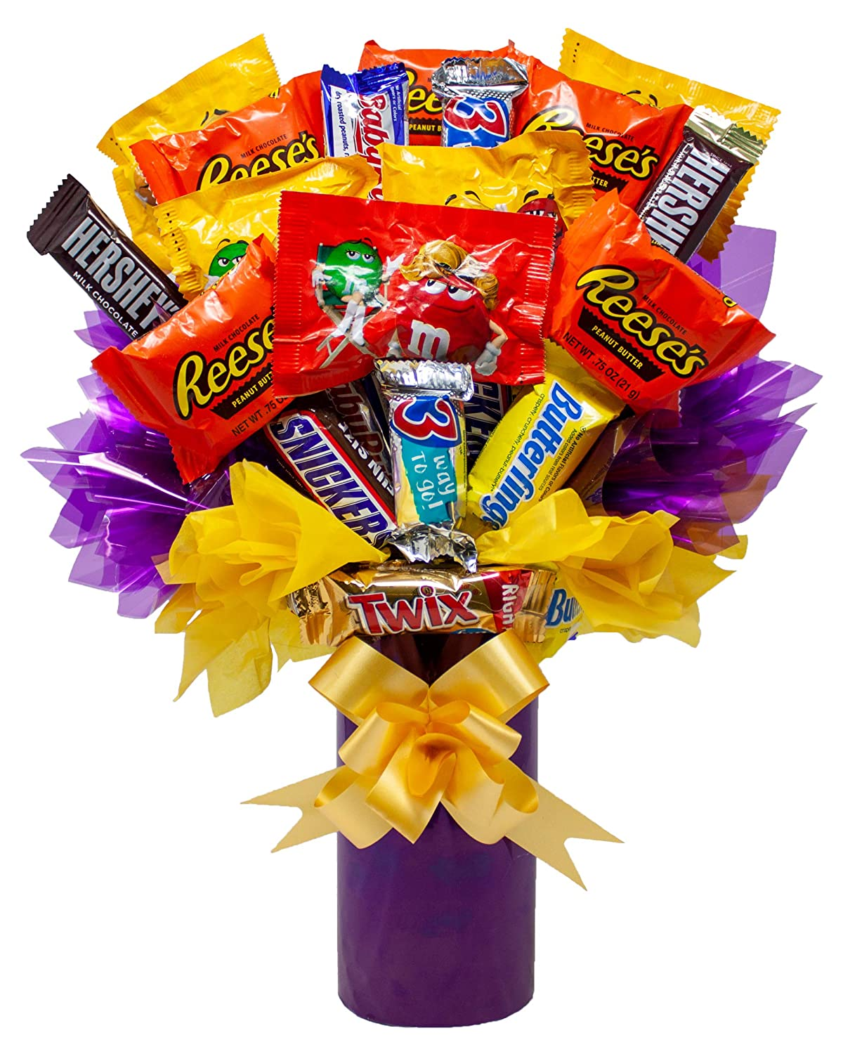 fun sized candy bouquet