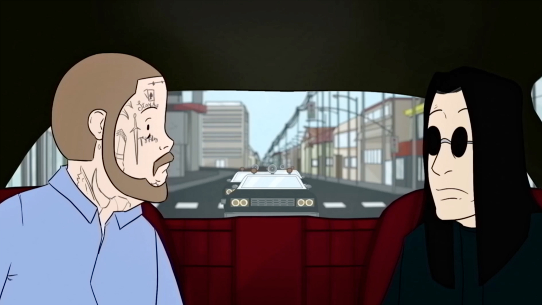 See Ozzy Osbourne and Post Malone Dodge the Cops in Cartoon 'It's a Raid' Video - Rolling Stone