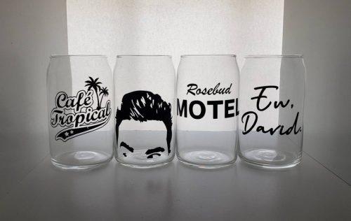 Schitt's Creek fan gifts beer glasses