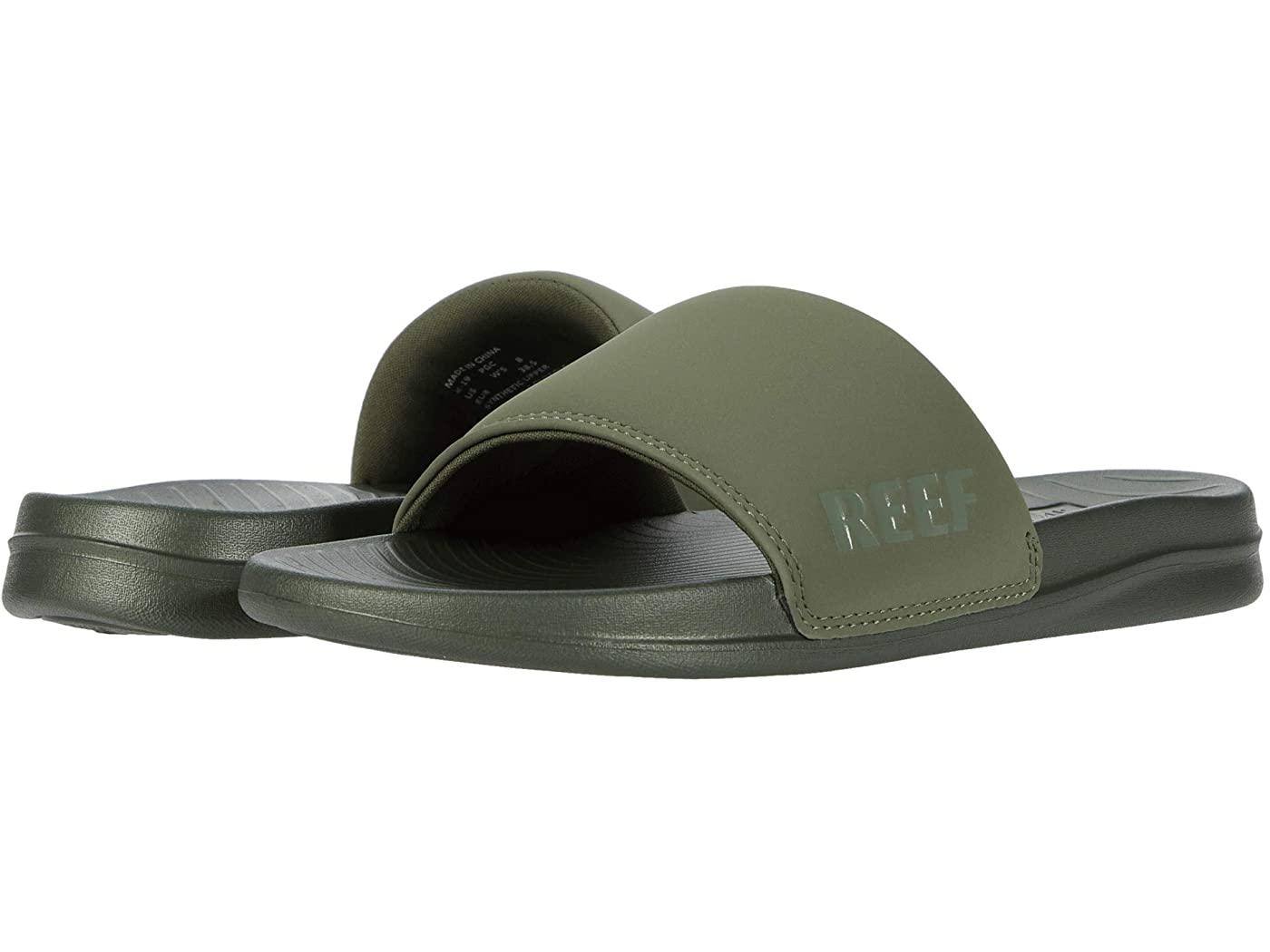 green slides reef sandals