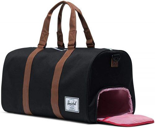 duffel bag shoe compartment herschel