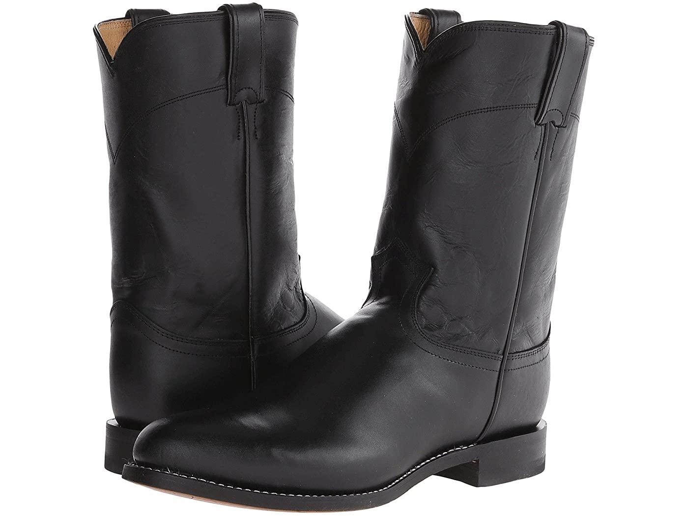 black cowboy boots mens justin