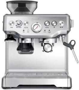espresso machine with grinder breville