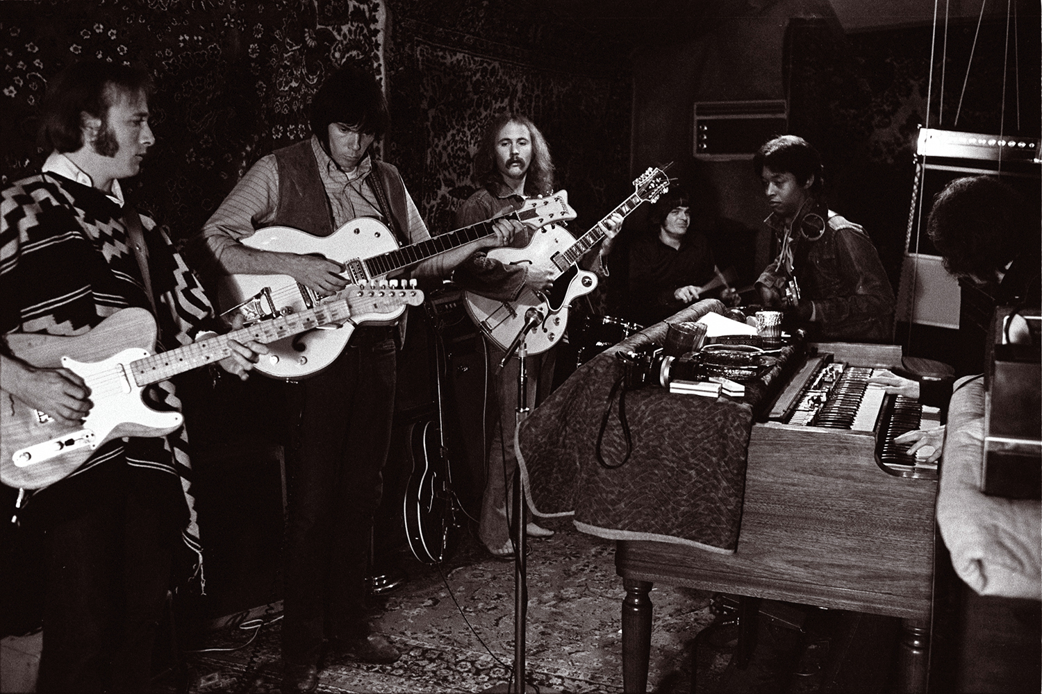 Crosby, Stills, Nash and Young with Dallas Taylor and Greg Reeves.