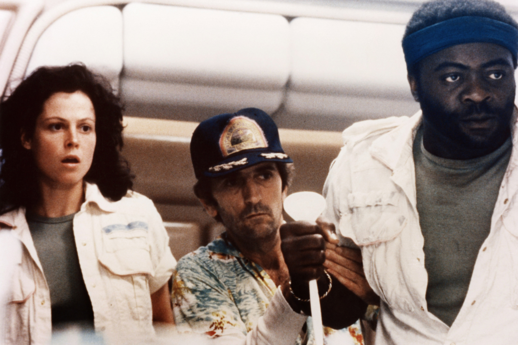 ALIEN, from left: Sigourney Weaver, Harry Dean Stanton, Yaphet Kotto, 1979, TM & Copyright © 20th Century Fox Film Corp./courtesy Everett Collection