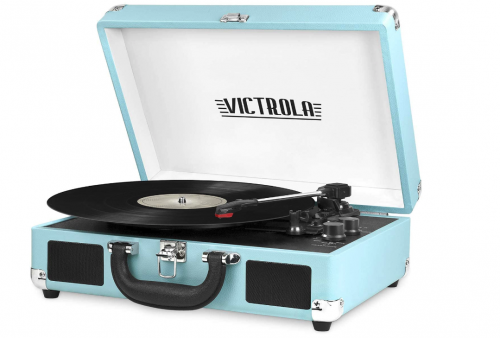 Best Suitcase Turntable Victrola Vintage 3-Speed Bluetooth Portable Suitcase Record Player
