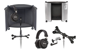 LyxPro VRI-50 Mic Shield Bundle Best Portable Vocal Isolation Recording Booth