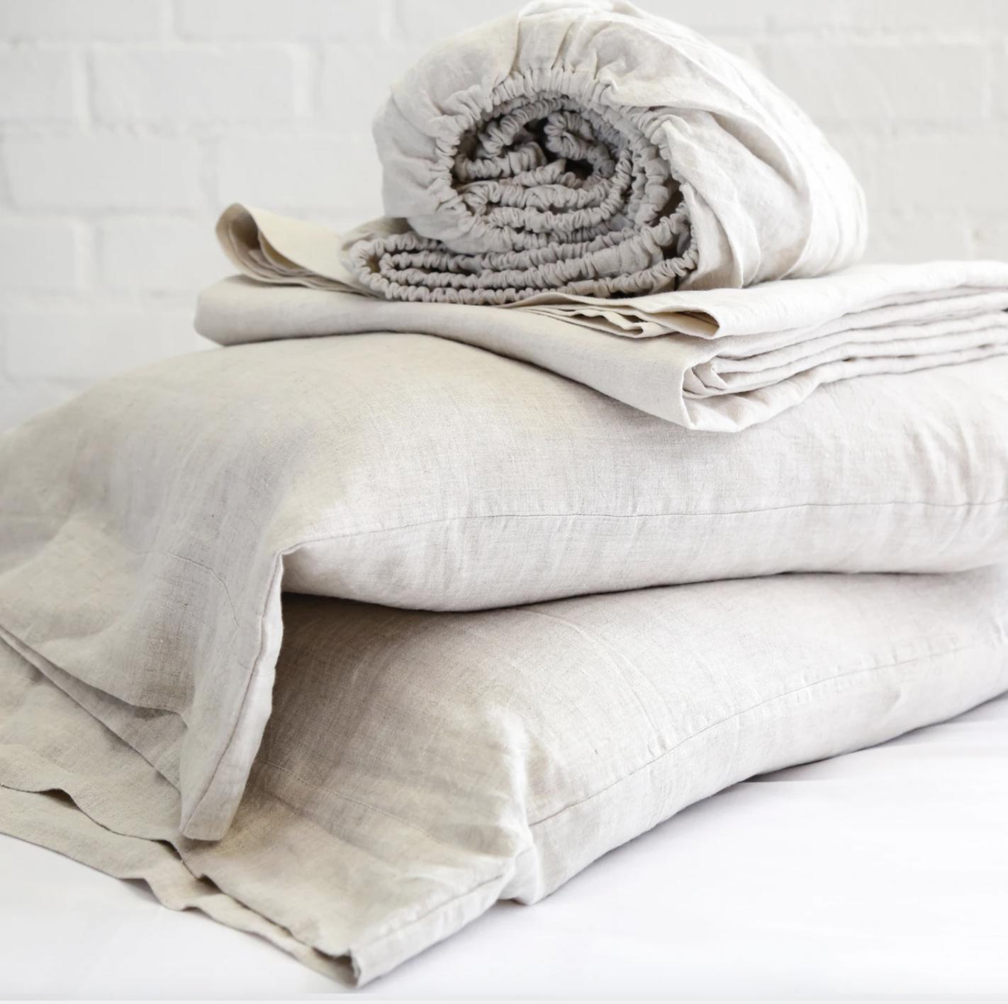linen sheets fancy pom pom
