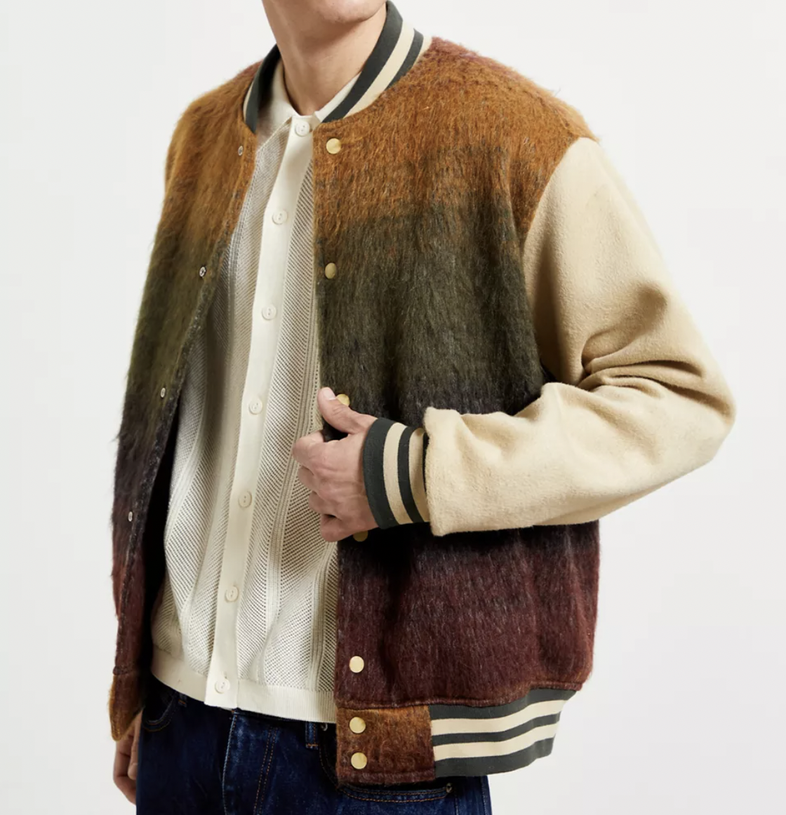 wool bomber jacket urban outfitters