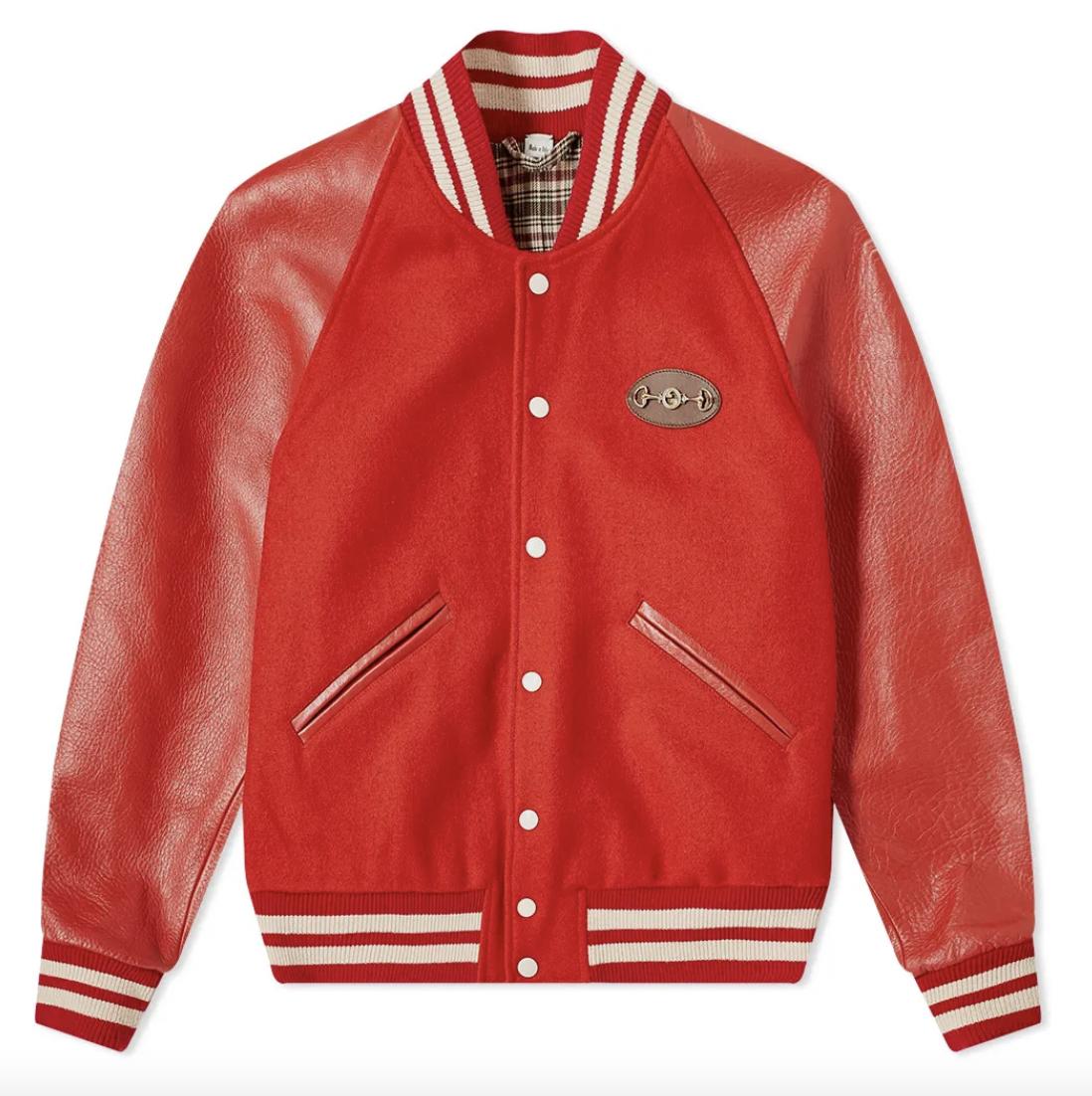 red varsity jacket gucci