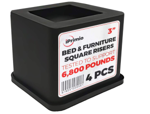 iPrimio Bed and Furniture Square Risers, Best Bed Risers