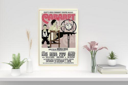 Schitt's Creek fan gifts cabaret poster