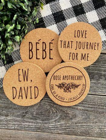 Schitt's Creek fan gifts coasters