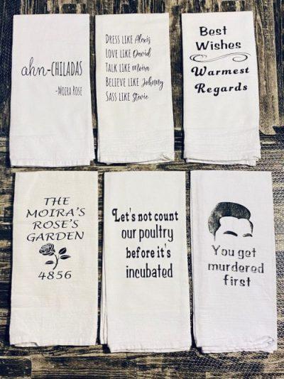 Schitt's Creek Gifts Etsy towels